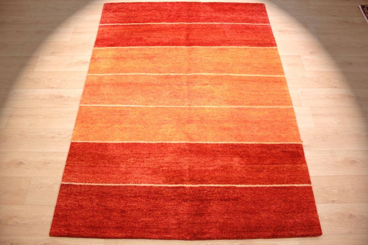 Orient Teppich Gabbeh Reine Wolle 240x170 Cm Rot Orange