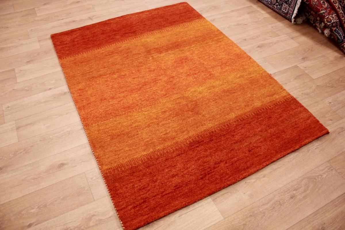 orient teppich gabbeh reine wolle 198x143 cm orange. Black Bedroom Furniture Sets. Home Design Ideas