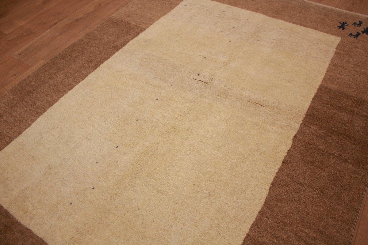teppich nomadic persian carpet gabbeh wool 207x152 cm beige. Black Bedroom Furniture Sets. Home Design Ideas