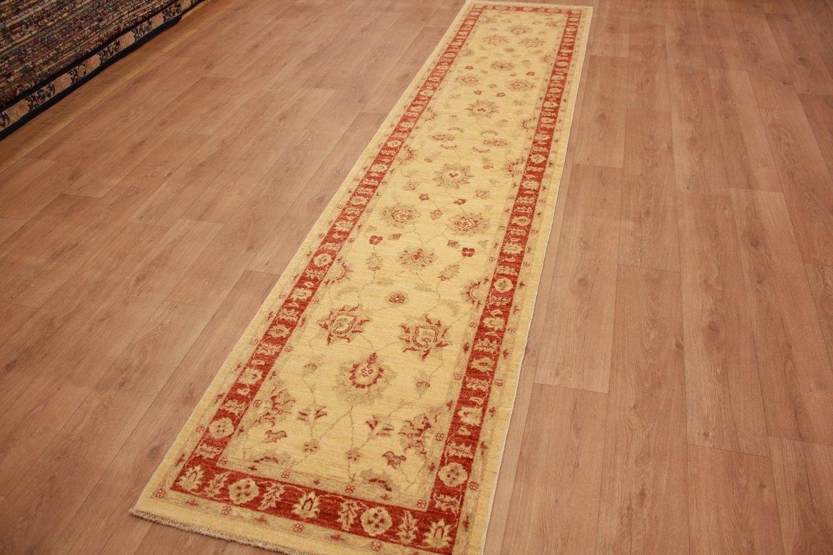 ziegler teppich orientteppich beige langer l ufer 381x82 cm. Black Bedroom Furniture Sets. Home Design Ideas