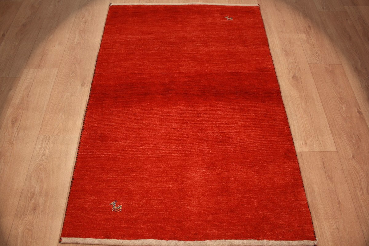 perser teppich gabbeh reiner wollteppich 148x98 cm rot. Black Bedroom Furniture Sets. Home Design Ideas