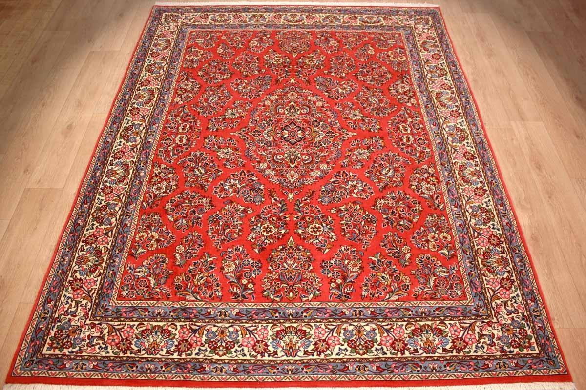 Persian Carpet Sarough Wool 274x216 Cm Red