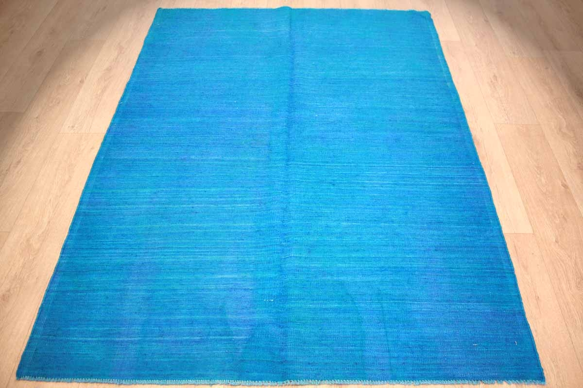 Teppiche Modern Gunstig ~ Teppich.com modern vintage kelim overdyed 198x146 cm blue