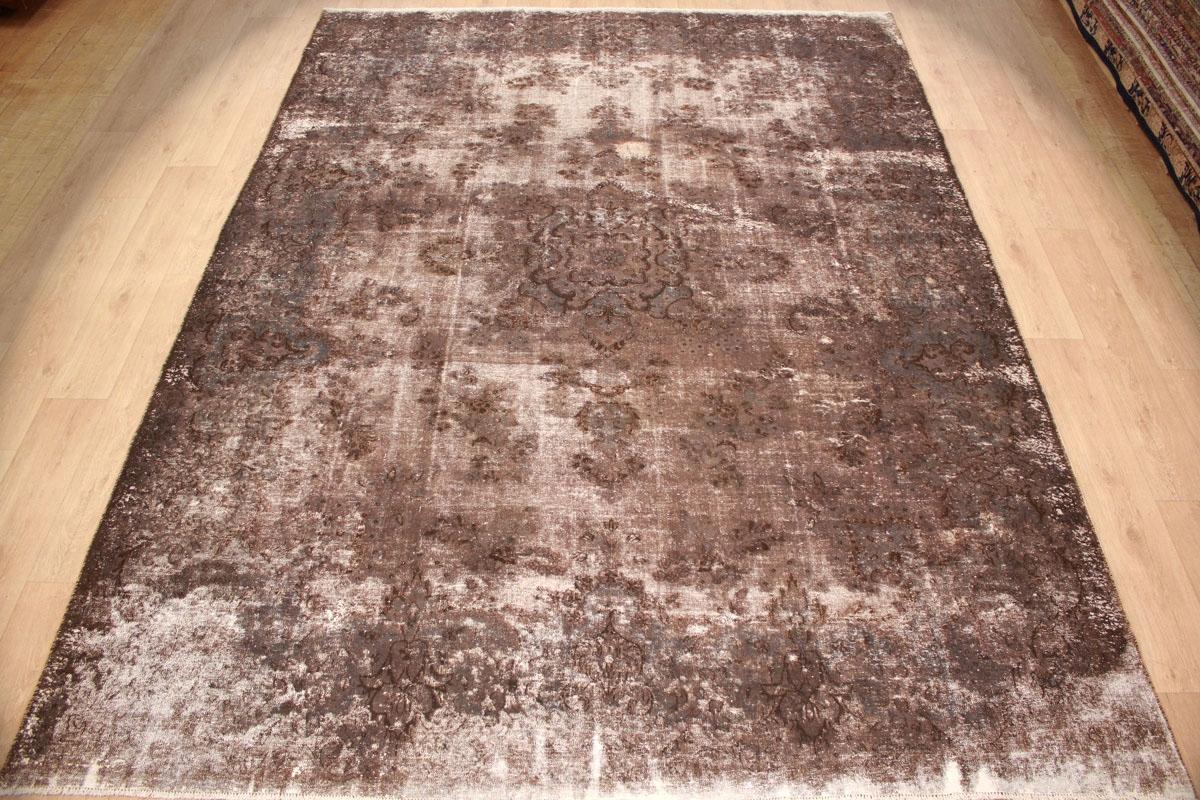 Vintage Teppich Moderner Orientteppich Braun 363x266 Cm